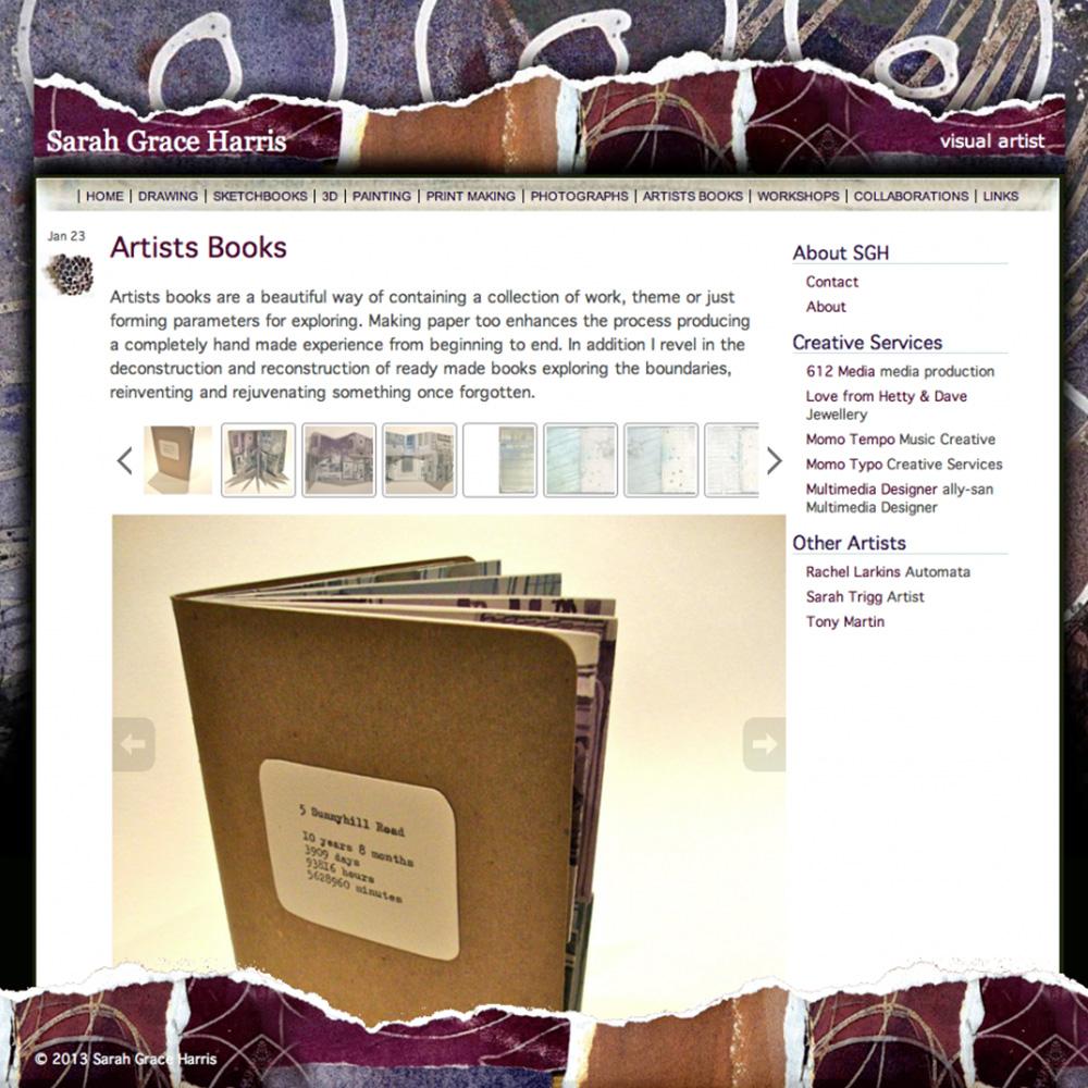 Sarah Grace Harris website