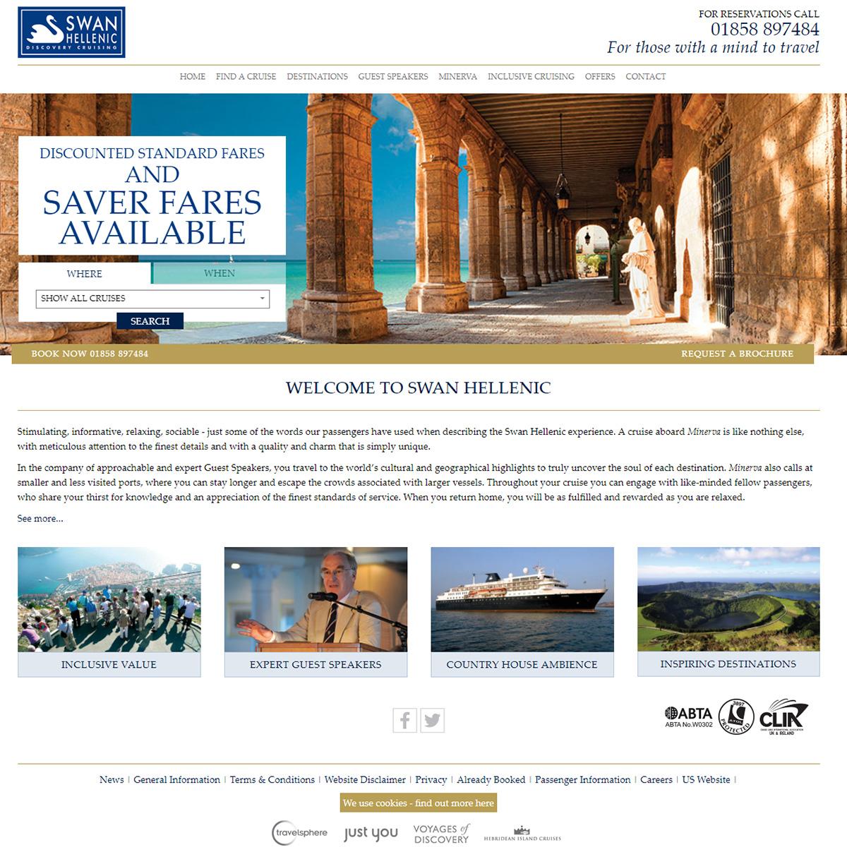 Swan Hellenic website