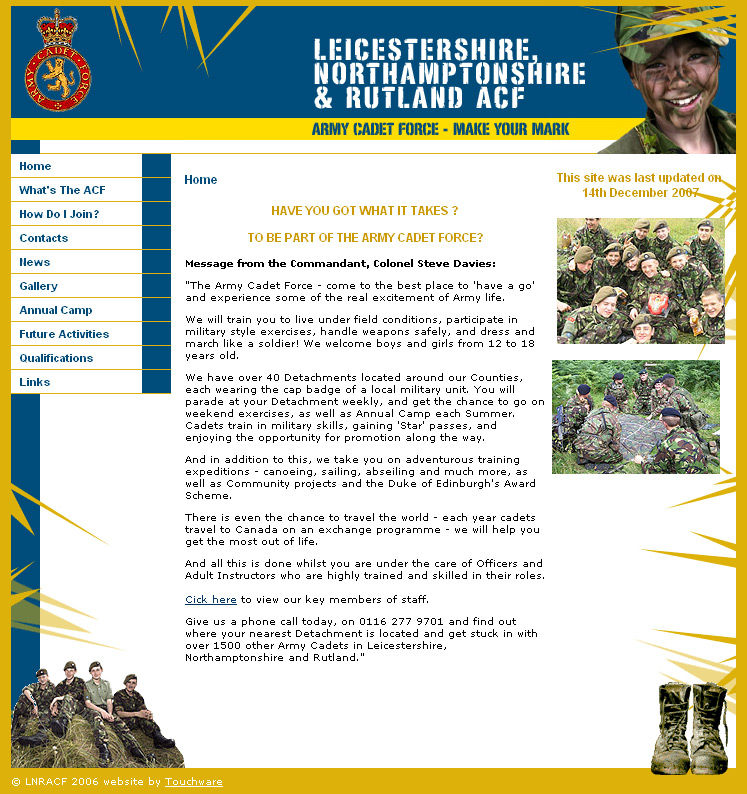 LNR ACF website
