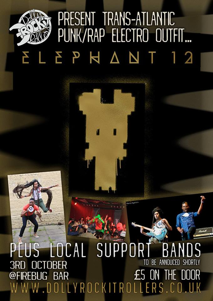 Elephant 12 gig poster
