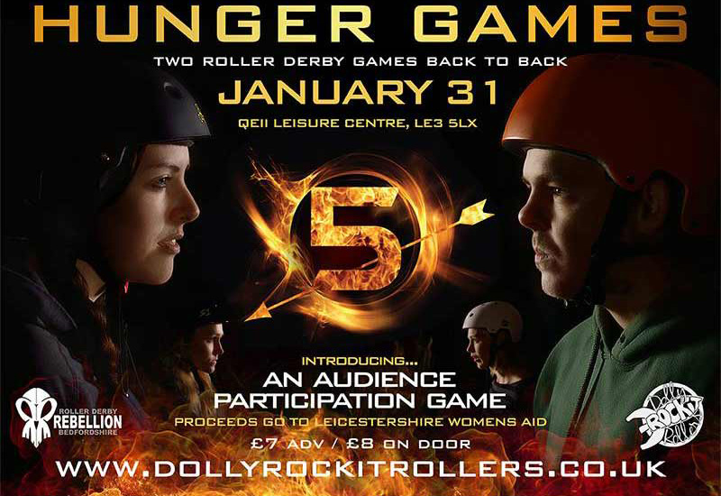 Hunger Games - Roller Derby poster