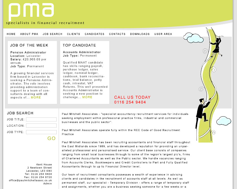 Paul Mitchell Associates website design
