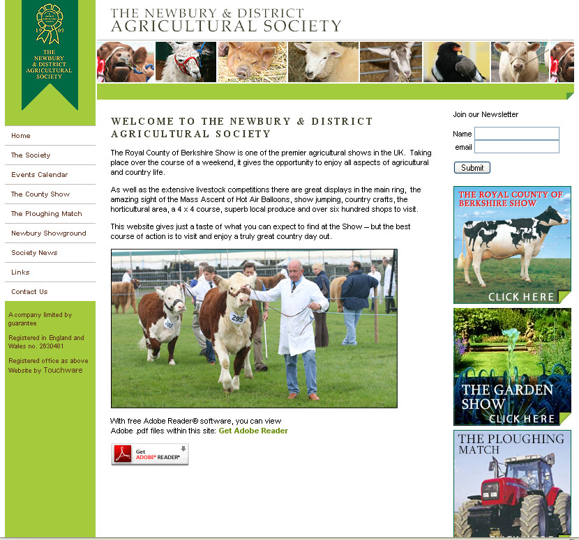 Royal County of Berkshire Show website