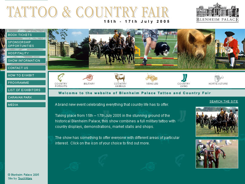 Blenheim Palace Country Fair website