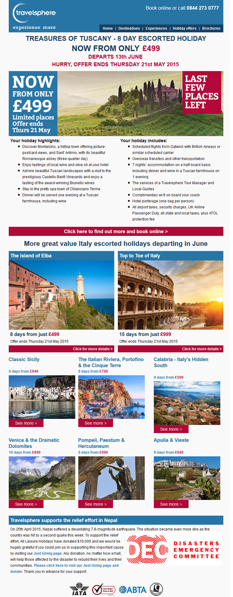 Travelsphere emails