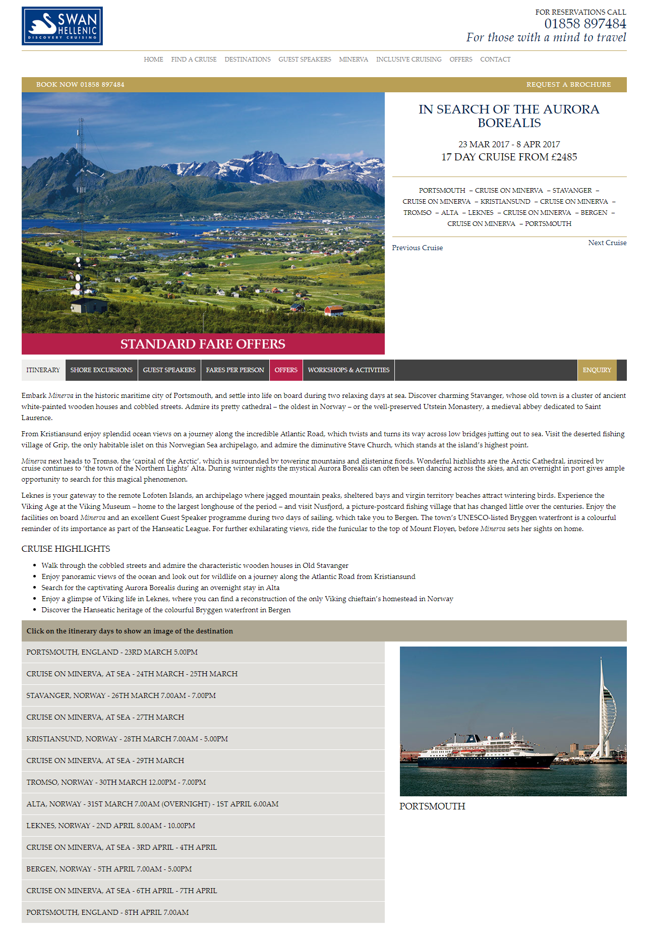 Cruise page