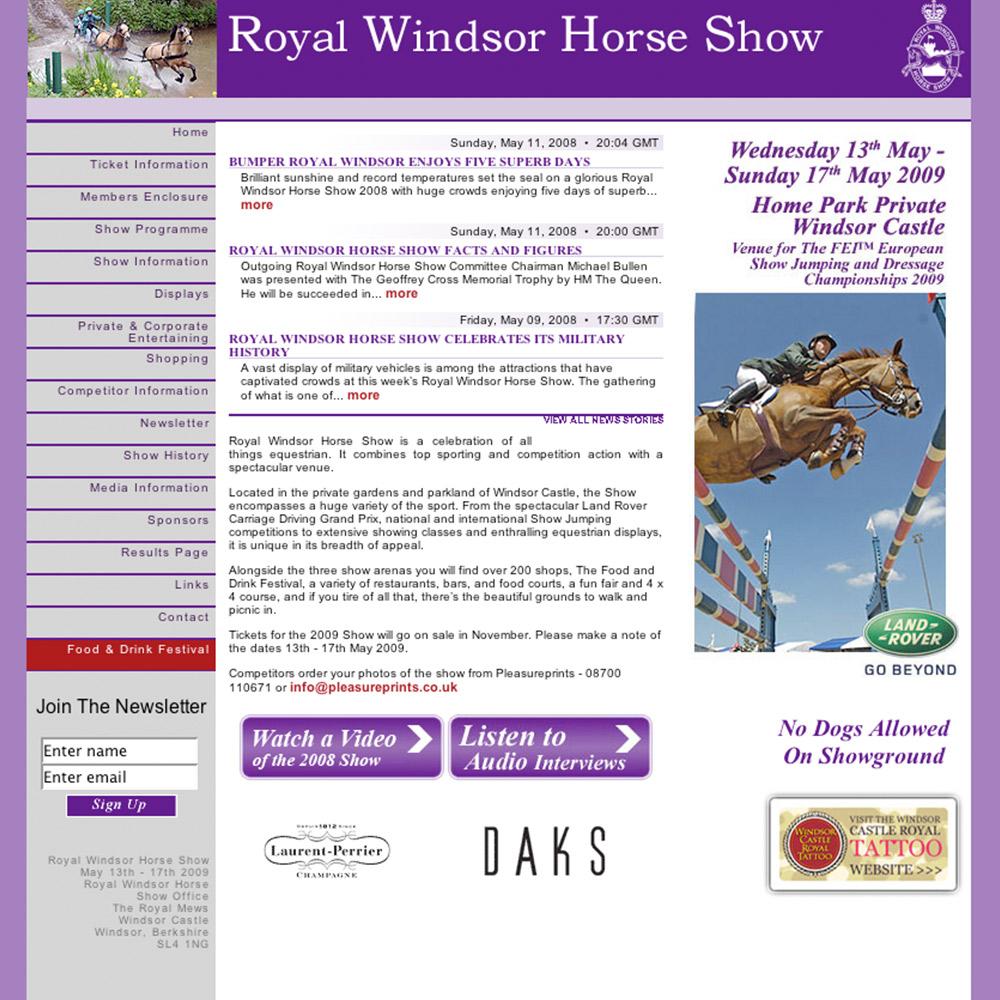 Royal Windsor Horse Show website