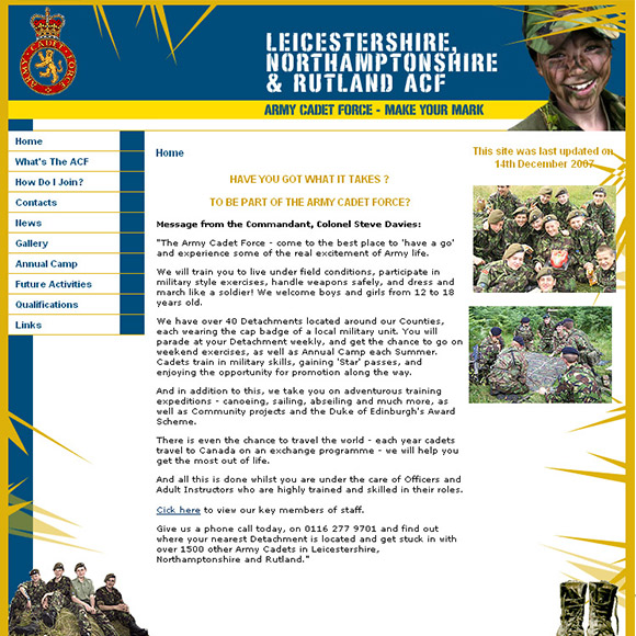 Cadets Website