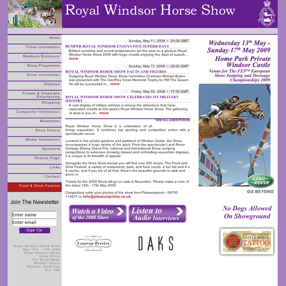 Royal Windsor Horse Show website