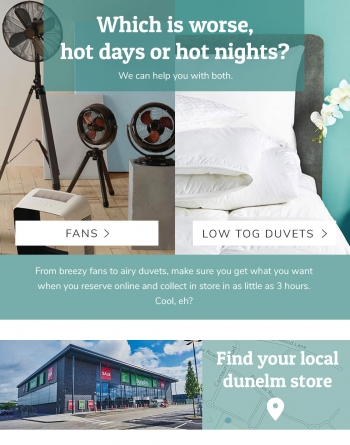 Dunelm Weather email